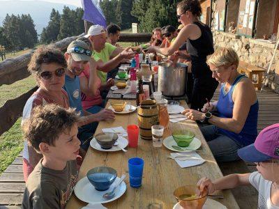 randonnée accompagnée avec repas montagnard